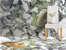 White Beauty/Ice Connect Marble/Green Jade/China Polished Slabs/Tiles/Cut to Size/Natural Stone Products/Floor/Wall Covering/Bookmatch/Own Quarry/