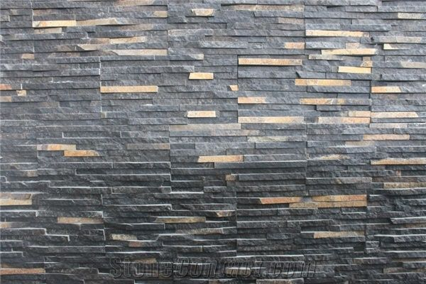 Black Slate Cultured Stone,Ledge Stone, Indonesia Black Java Slate ...