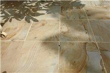 Yellow Palimanan Sandstone Tiles & Slabs, Yellow Sandstone Floor Tiles, Yellow Sandstone Floor Covering