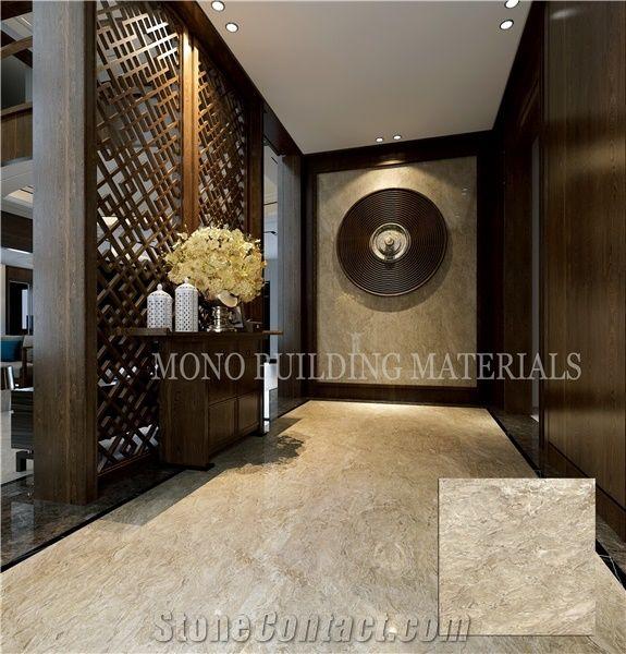 Spanish Gold Porcelain Tiles 800x800 Polished Marble Look Tile For