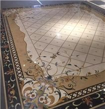 Modern Style and Hot Sale Marble Inlay Floor Design/Carpet,Luxury Restaurant Floor and Wall Use Marble Inlay Wall Tiles, Azul Blue/Golden Year/Light Emperador/Crema Marfil/Nero Marquine/White Jade