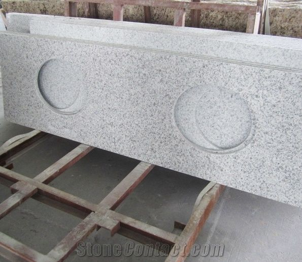 White Grey Granite Countertops Bianco Couner Tops Stone Vanity Chinese Bath Counter