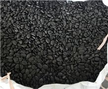 Black Polished Different Sizes Polished Pebble River Stone for Decoration in Landscaping ,Garden , Walkway