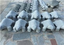 Natural Stone Hand Carved Turtle , Natural Stone Carved Animals for Landscaping ,Garden and Outdoor Decoration