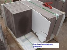 Red Sandstone Honed Floor Tiles, Wall Covering Plate ,