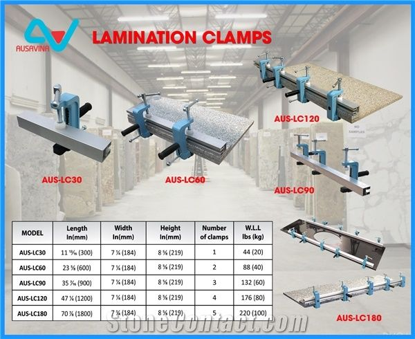 Lamination Clamps - Ausavina, Saw Machine, Vacuum Lifter, a Frame ...