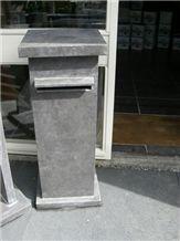 China Dark Limestone Mailbox,Natural Carving Stone Garden Mailbox,Chinese Limestone Letter Box,Customer Size Mailbox