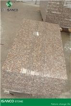 China Wulian Red Granite Steps G368 Wulian Red Granite Staircase Wulian Hong Granite Stair Treads Red Granite Stair Riser Shandong Cheap Red Granite Stair Threshold China Rose Porrino Red Granite