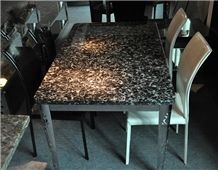 Fossil Black Marble Table, Seashell Flower Marble Tiles, China Sea Shell Black Marble Slab, Peacock Eye Black Marbleslabs & Tiles