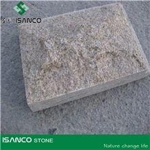 Granite Mushroom Stone, Yellow Granite Mushroomed Cladding, Granite Mushroom Stone for Wall Cladding /Wall Panel, Granite Exterior Wall Stone