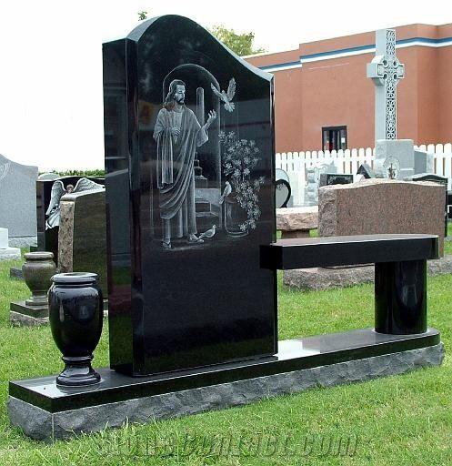 Granite Tombstone Monument Headstone Granite Flower Vases For