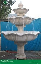 Marble Garden Fountains White Marble Sculptured Fountains Handcarved Exterior Fountains Outdoor Decoration Bird Bath Water Features Landscaping Furnitures