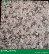 Shandong Laizhou Pink Granite Tiles Flamed Pink Granite Flooring Cherry Flower Red Granite Slabs Sakura Red Granite Wall Tiles G367 Granite Wall Covering Laizhou Cherry Pink Granite G364 Granite