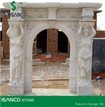 White Marble Fireplace Design Ideas Hand Carved Sculptured Fireplace Customized Fireplace Mantel Masonry Heaters Modern Style Fireplace Stone Fireplace for Indoor Decoration