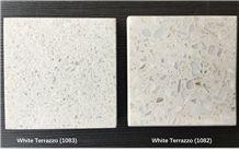 White Terrazzo Tile, Artificial Stone Tile