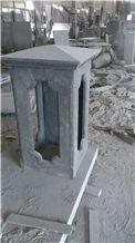 FuDing Black G684 Basalt  Cutted black China Gate Columns