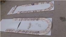 Turkey Rosalia Marble shined Border Decos Lines
