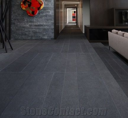 Basalt Floor Tile Flamed Finish Private Residence Auckland From