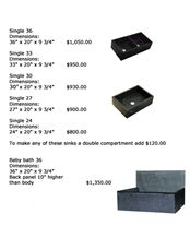 Black Minas Soapstone Sinks