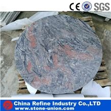 Landscaping Stone Garden Table Top, Granite Round Table Tops