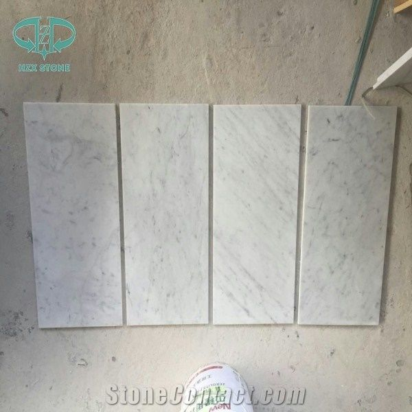 Bianco Carrara White Marble Polished Countertop Vanity Top With Beveled Edge Italy Countertops Slabs Tiles Floor Wall Clading