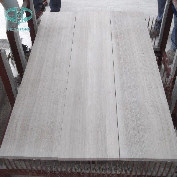 China White Wood Marble Stone Tiles