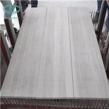 China White Wood Marble Stone Tiles, Honed Marble, White Wooden Tiles, Light Color Grain Marble, Honed Stone, Floor&Wall Tiles, Crystal Wooden Vein White Marble