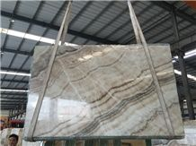 Beige Onyx Big Slab, Wooden White Ice Onyx Slab