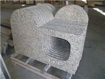 Prefabricated China White Tiger Granite Bathroom Vanity Tops with Oval Sinks