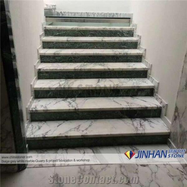 Statuarietto Bianco Marble Staircase Statuarietto White