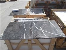 Portoro Antalya Marble Slabs & Tiles, Turkey Black Marble