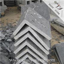 Corner Cladding Stone / Zhangpu Natural Split Black Basalt Pier Caps & Quoins / Black Natural Split Corner Stone