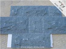 G612 Oliver Green Natural Granite Natural Split Wall Tiles/Mushroom China Green Granite Tiles/Zhangpu Dark Green Granite Flooring Tiles