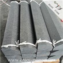G684 Black Basalt Curbstone / Fudding Basalt Flamed or Exfoliated / Black Pearl Basalt Kerbstone