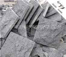 Mushroom/Natural Split G684 Black Basalt/Black Pearl Coverings in Stone for External Wall Cladding
