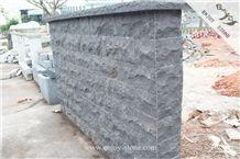 Split Face China Black Basalt Decorative Walling Tile Outdoor/Zhangpu Black Basalt Walling Tiles