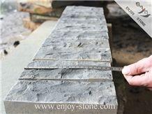 Zhangpu Black/China Black Basalt Stone Bricks Wall Cap/Facades Stone