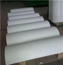 Pure White Nano Crystallized Glass Stone Columns,Nano Glass Stone Columns