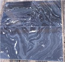 Forest Black Marble Tiles ,Silver Paradiso Marble Tile, India Black Marble Tile