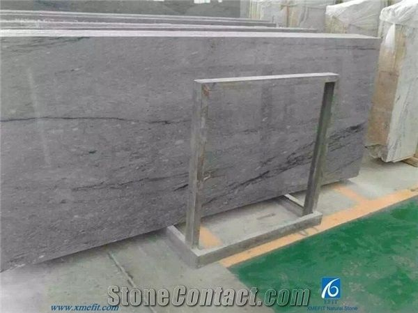 Silvery Shine Marble Tiles And Slabs Natural Grey Marble Slabs - How to shine marble floors naturally