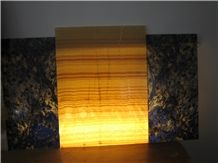 Backlit Honey Onyx Panel, China Yellow Onyx Slabs & Tiles