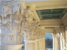 Indiana Buff Limestone Carved Column Tops