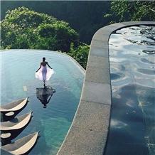 Bali Green Stone Sukabumi Pool Tiles Pedra Hijau