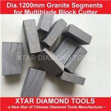 1200mm Granite Cutting Segments for Multiblade Block Cutter