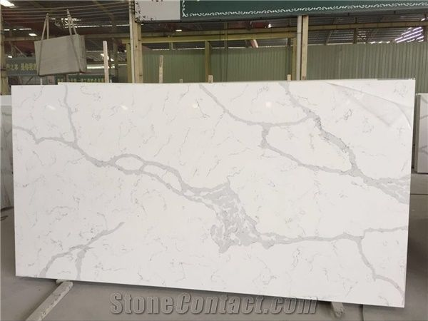 Best Qualtiy Glacier White Quartz Stone Slab For Kitchen
