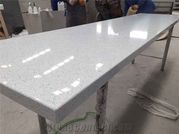 Lowes Kitchen Countertop Crystal White Quartz From China