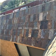 Cheap and Natural Chinese Rustic Slate Roof Tiles Square Roof Covering and Coating