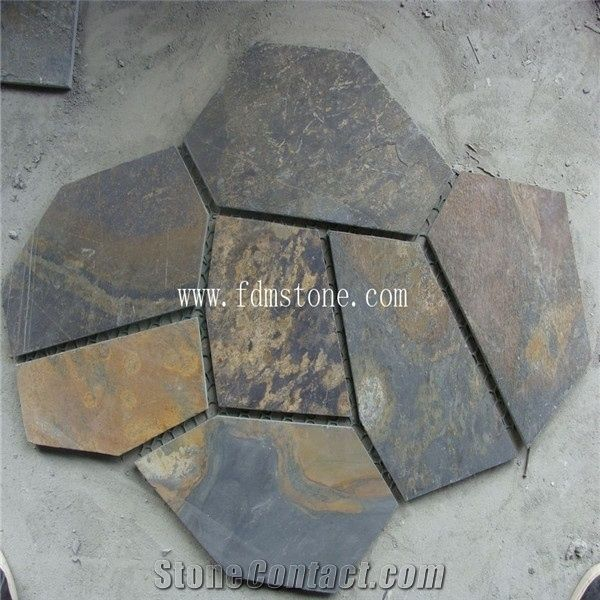 Cheap Flagstone Black Color Natural Outdoor Slate Stepping