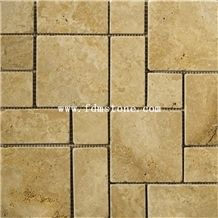 Cream Yellow Limestone French Pattern Flooring and Walling Tiles,Kitchen Design