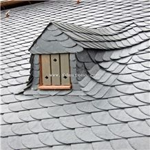 roofing tile cheap black roofing slate tilefish scale shape roof covering - Roof Covering